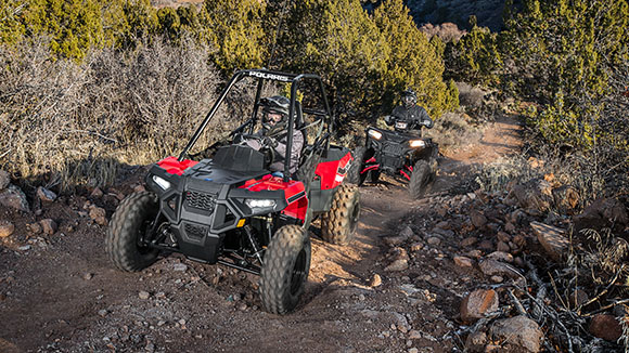 Polaris ACE 150 - LONG-TRAVEL FRONT AND REAR SUSPENSION