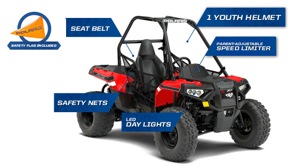 Polaris ACE 150 - STANDARD SAFETY FEATURES